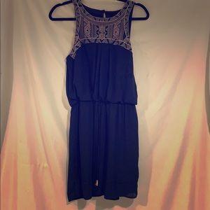 Women's casual navy blue dress